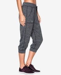 Under Armour Tech Heathered Capri Pants Black
