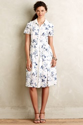 Erin Fetherston Chinoiserie Shirtdress Neutral Motif