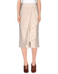 Henry Cotton's Skirts 3 4 Length Skirts Women Ivory