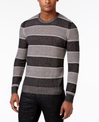 Inc International Concepts Men's Penifield Striped Cotton Sweater Only At Macy's Deep Black