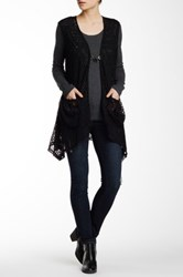 Simply Irresistible Cap Sleeve Open Cardigan Black