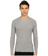 Marc Jacobs Summer Silk Thermal Grey Melange Men's Long Sleeve Pullover Gray