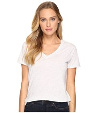 Hurley Staple Perfect V Grey Heather Women's Short Sleeve Pullover Gray