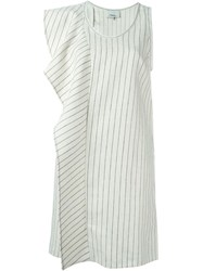 3.1 Phillip Lim Ruffled Asymmetric Dress White