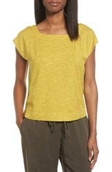 Eileen Fisher Women's Hemp And Organic Cotton Knit Crop Top Papyrus