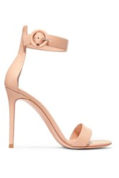 Gianvito Rossi Portofino Leather Sandals Neutral