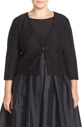Adrianna Papell Lace Bolero Jacket Plus Size Black