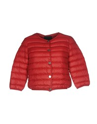Frankie Morello Down Jackets Red