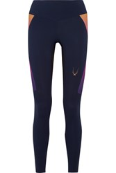 Lucas Hugh Aurora Stretch Leggings Navy