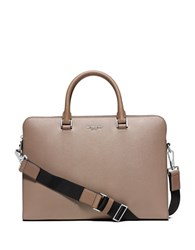 Michael Kors Leather Trimmed Briefcase Taupe