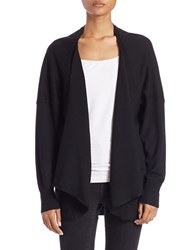 Lord And Taylor Long Sleeve Open Front Cardigan Black