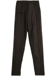Ziggy Chen Loose Fit Trousers Brown