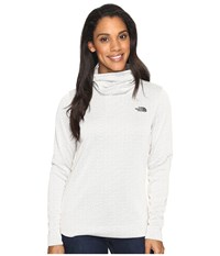 The North Face Novelty Glacier Pullover Moonlight Ivory Digi Women's Long Sleeve Pullover White