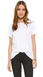 Feel The Piece Nicola Slub Crew Neck Tee White