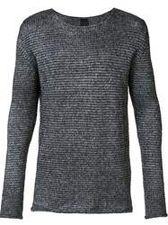 10Sei0otto Scoop Neck Pullover Grey