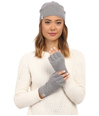 Ugg Classic Sequin Trimmed Beanie And Tech Fingerless Set Grey Heather Multi Beanies Gray
