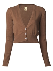 Lucien Pellat Finet V Neck Cashmere Cardigan Brown