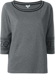Kenzo Scoop Neck T Shirt Grey