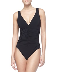 Karla Colletto Ruch Front Underwire One Piece Black