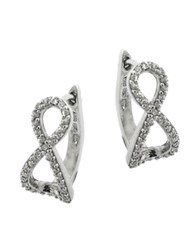 Lord And Taylor Sterling Silver Cubic Zirconia Infinity Pendant Stud Earrings