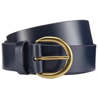 John Lewis Julia Leather Jeans Belt Navy