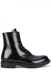 Alexander Mcqueen Black Glossed Leather Boots