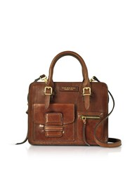 The Bridge Handbags Brown Genuine Leather Mini Tote Bag