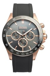 Boss 'Ikon' Chronograph Rubber Strap Watch 44Mm