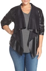 Levi'sr Plus Size Women's Levi's 'Cascade' Faux Leather Jacket Black