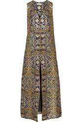 Alice Olivia Xaviera Metallic Brocade Vest Gold