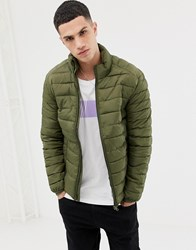 Only And Sons Quilted Jacket Olive Night Green
