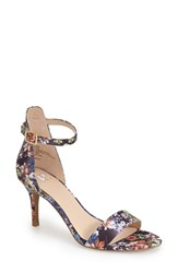 Women's Bp. 'Luminate' Open Toe Dress Sandal Black Floral Print Fabric