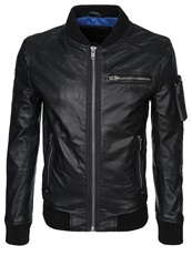 Superdry Hero Marksman Leather Jacket Black