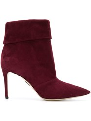 Paul Andrew Stiletto Ankle Boots Red