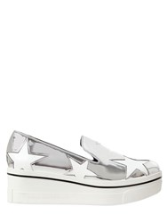 Stella Mccartney 60Mm Binx Faux Metallic Leather Sneakers