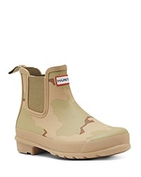 Hunter Original Chelsea Desert Camo Rain Booties Pale Sand