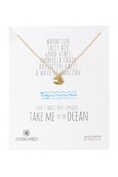 Dogeared 14K Sterling Silver Take Me To The Ocean Sailboat Necklace Metallic