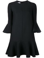 Valentino Crepe Couture Mini Dress Black