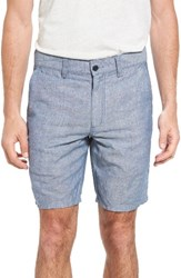 John Varvatos Men's Star Usa Triple Needle Linen And Cotton Shorts