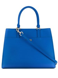 Trussardi Jeans Large Tote Bag Blue