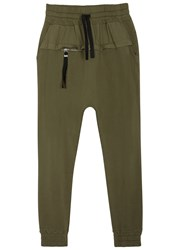 Blood Brother Rutland Olive Cotton Jogging Trousers Green
