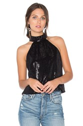 Jay Godfrey Naples Sequin Top Black