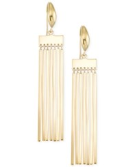 Sis By Simone I Smith Fringe Bar Tassel Drop Earrings In 18K Gold Over Sterling Silver Yellow Gold