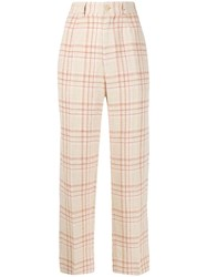 Forte Forte Textured Check Patterned Trousers 60