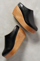 Anthropologie Sydney Brown Clogs Black 40 Euro Wedges