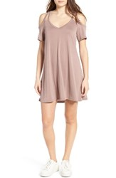 Socialite Women's Sofia Cold Shoulder Dress Antler