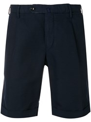 Incotex Navy Chino Shorts Blue