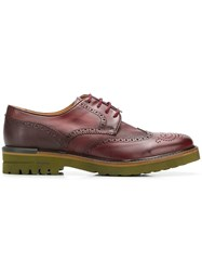 Brimarts Chunky Sole Brogues Red