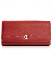 Giani Bernini Wallet Leather Receipt Manager Red