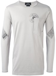 Stone Island Shadow Project Chest Pocket Longsleeved T Shirt Grey